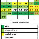 Рыболовный календарь на сентябрь 2013