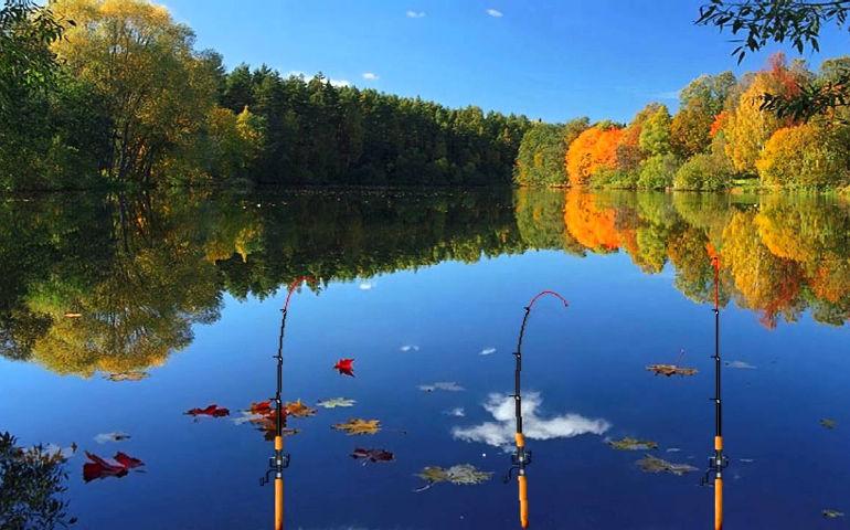 Русская рыбалка 3: Озеро. Берем 3 удочки