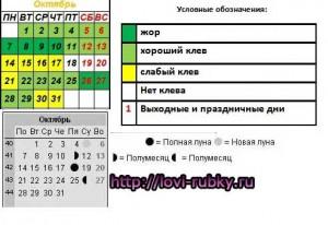 Лунный календарь рыболова октябрь 2013