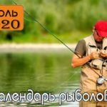 Календарь клева рыбы на Июль 2020 года